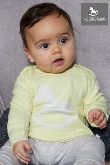 Желтый вязаный джемпер для малышей The Little Tailor