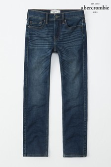Abercrombie & Fitch Dark Wash Straight Leg Jeans
