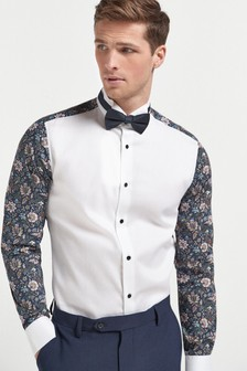 Printed Occasion Wing Collar Shirt