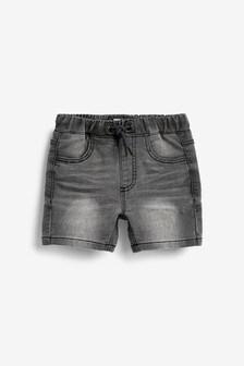Short en jean en jersey (3 mois - 7 ans)