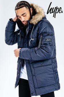 Мужскаятемно-синяя куртка Hype.Explorer