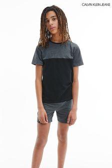 Пижамный комплект из хлопкового трикотажа с шортами Calvin Klein Modern