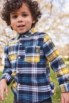 Клетчатая оксфордская рубашка с длинным рукавом (3 мес.-7 лет)