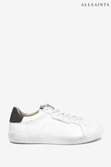 AllSaints White Sheer Low Top Lace-Up Cervo Shoes