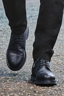 Leather Chunky Sole Tall Boots