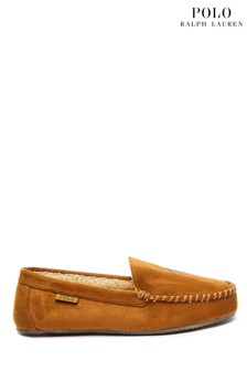 Papuci de casă din piele întoarsă Polo Ralph Lauren