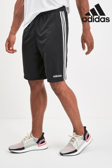 adidas Black D2M 3 Stripe Short