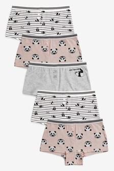 Lot de 5 boxers motif panda (2-16 ans)