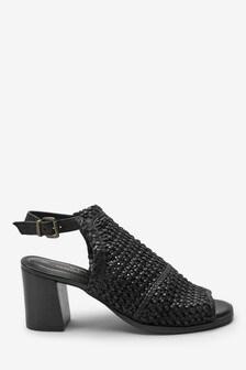 Schuhe mit geflochtenem Design
