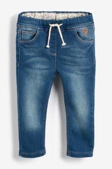 腰部鬆緊帶設計窄管牛仔褲 (3個月至7歲)