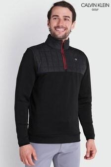 Calvin Klein Golf Black Vardon Hybrid Half Zip Jacket