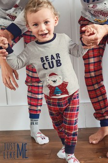 Kids Matching Family Check Pyjamas (3-16yrs)