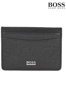 Черный коллекционный бумажник с отделениями для карт BOSS
