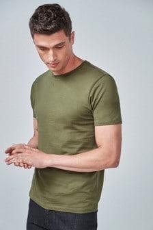 Majica s kratkimi rokavi in okroglim ovratnikom
