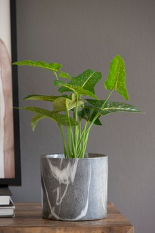 Artificial Plant In Marble Effect Pot