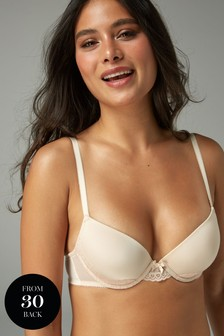 Carrie Light Pad Lace Plunge Bra