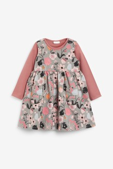 Floral Pinafore And Bodysuit Set (0 мес. - 2 лет)