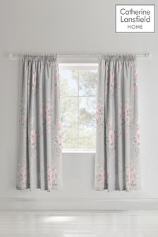 Catherine Lansfield Canterbury Floral Pencil Pleat Curtains