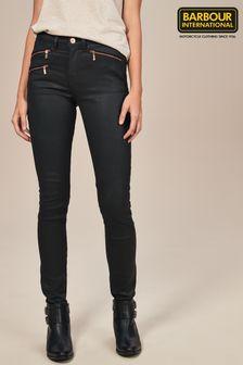 Barbour® International Durant Black With Zip Cuff Jean