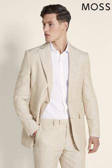 Moss 1851 Stone Linen Suit