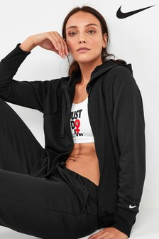 Nike Black Get Fit Zip Through Hoody