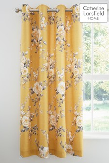 Canterbury Floral Eyelet Curtains by Catherine Lansfield
