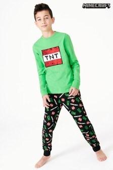 Minecraft フレア スパンコール パジャマ (4~12 歳)