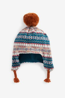 Knitted Trapper Hat (Younger)