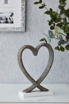 Encrusted Heart Sculpture