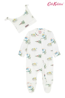 Set cu pijama și căciuliță cu model distanțat dinozaur Cath Kidston®