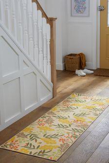 Carpetă lavabilă cu model frunze