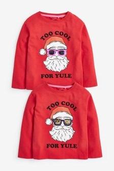 """Топ с надписью """"Too Cool Santa"""" (3-16 лет)"""