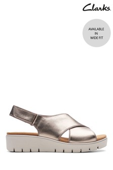 Clarks Wide Fit Gold Un Karely Sun Sandal