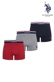U.S. Polo Assn. Stripe Band Boxers Three Pack