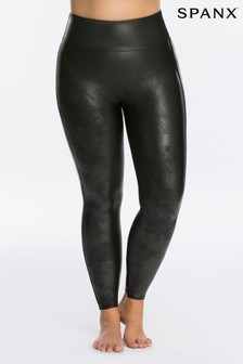 SPANX® Curve Medium Control Faux Leather Structured Leggings
