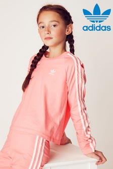 adidas Originals Pink Long Sleeve Crop T-Shirt