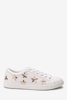 Schoenen met sterrenprint en vetersluiting