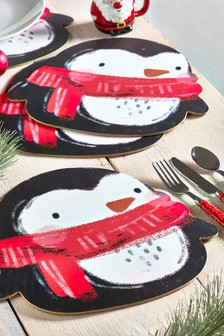 Set of 4 Santa And Friends Placemats