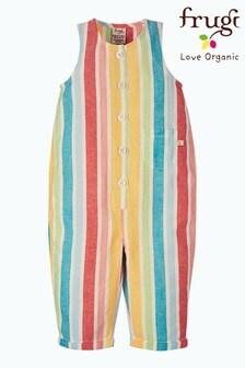 Frugi Organic Cotton Rainbow Stripe Dungarees