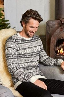 Sweter z okrągłym dekoltem Fairisle Pattern
