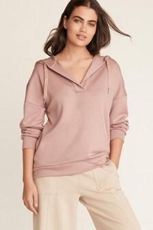 Open Neck Sweatshirt