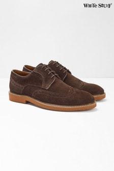Hnedé semišové topánky s vyrazeným vzorom White Stuff Bobby