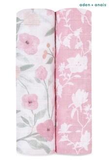 aden + anais Ma Fleur Large Cotton Muslin 2 Pack Blankets