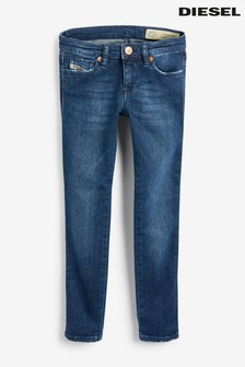 Diesel®深色水洗兒童緊身牛仔褲
