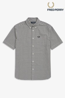 Chemise Fred Perry manches courtes à carreaux vichy