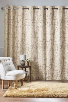 Leaf Trail Eyelet Curtains