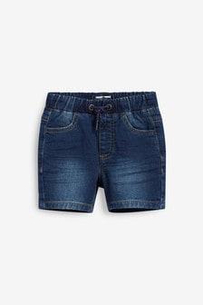 Трикотажные джинсовые шорты (3 мес.-7 лет)