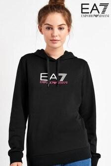EA7 Black Logo Overhead Hoody
