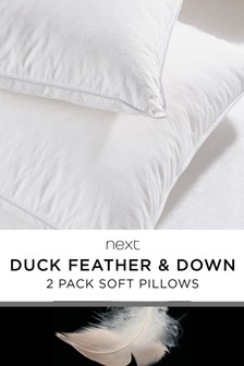 Set of 2 Duck Feather And Down Soft Pillows