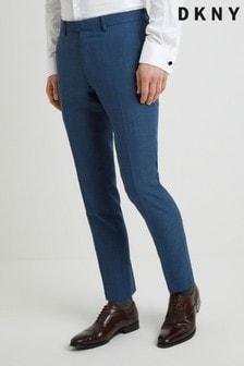 מכנסיים כחולים עם טקסטורה לקיץ בגזרה צרה של DKNY